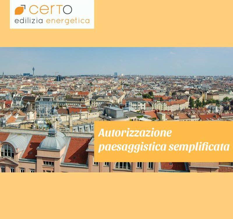 autorizzazione paesaggistica semplificata