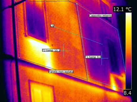 isolamento termografia