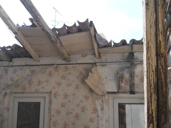 sisma tetto crollato