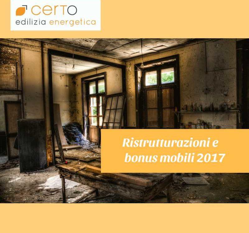 Ristrutturazioni e bonus mobili 2017