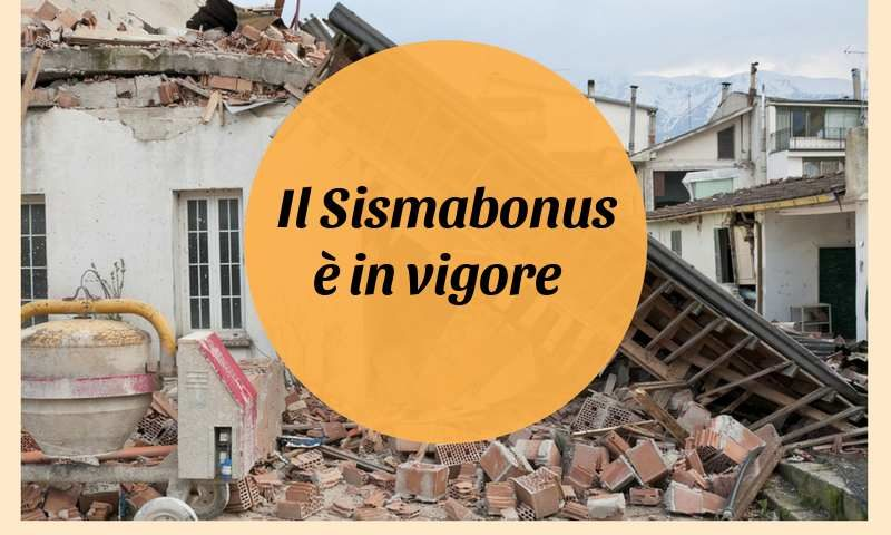 sisma-bonus in vigore