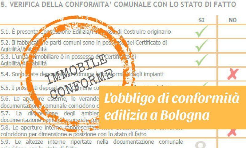 conformità edilizia diventa obbligatoria a Bologna