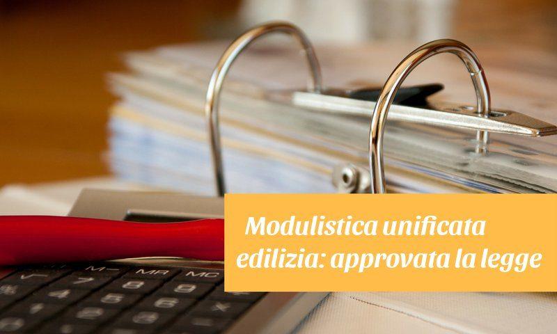 modulistica unificata edilizia
