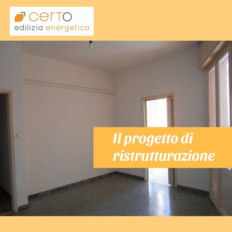 Progetto di ristrutturazione di un appartamento certo for Progetto ristrutturazione appartamento