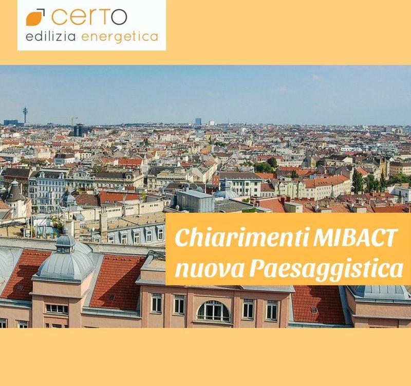 chiarimenti MIBACT su autorizzazione paesaggistica semplificata