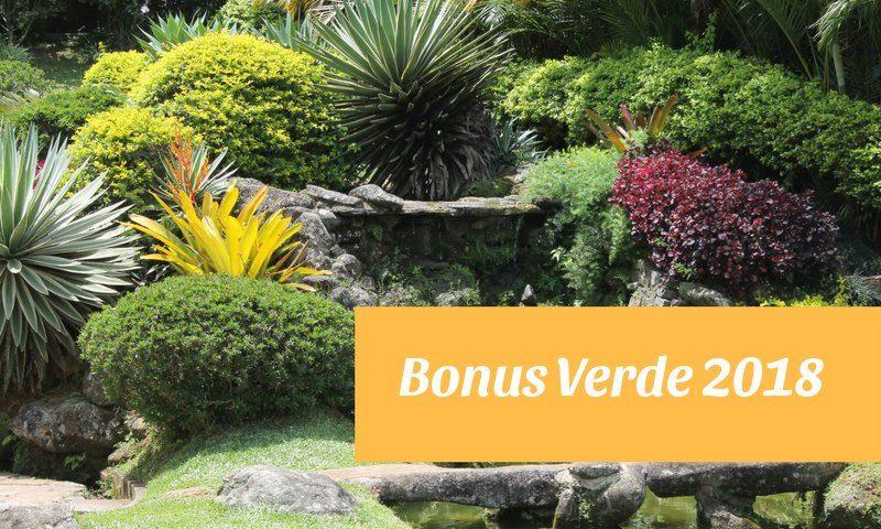 Bonus verde la detrazione per la sistemazione di giardini e