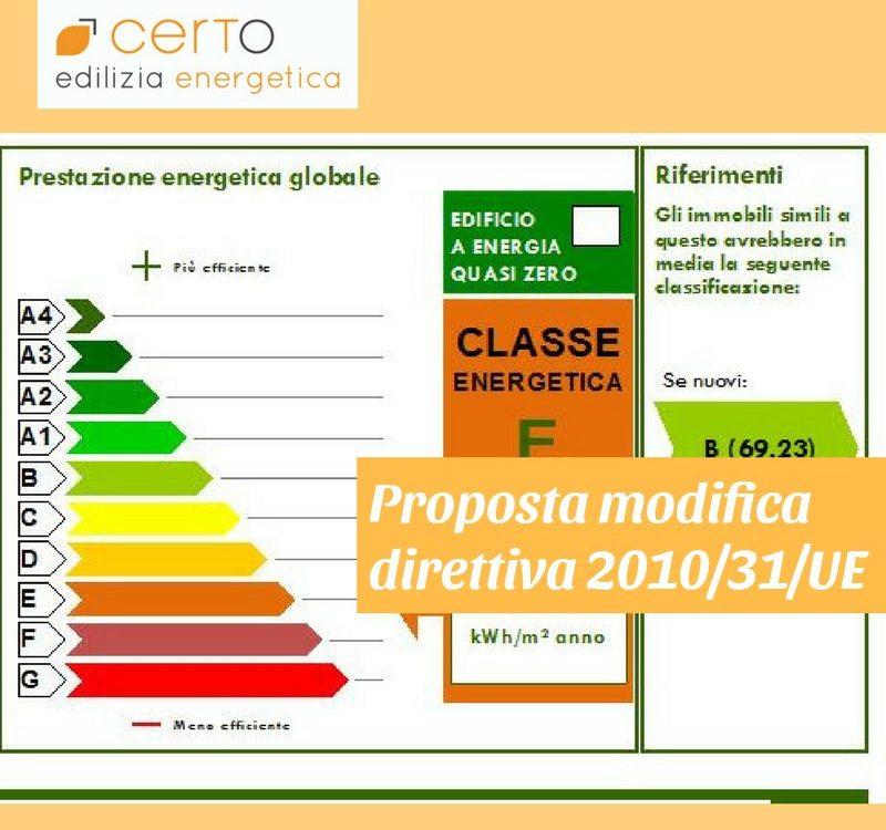 proposta modifica direttiva europea su prestazione energetica