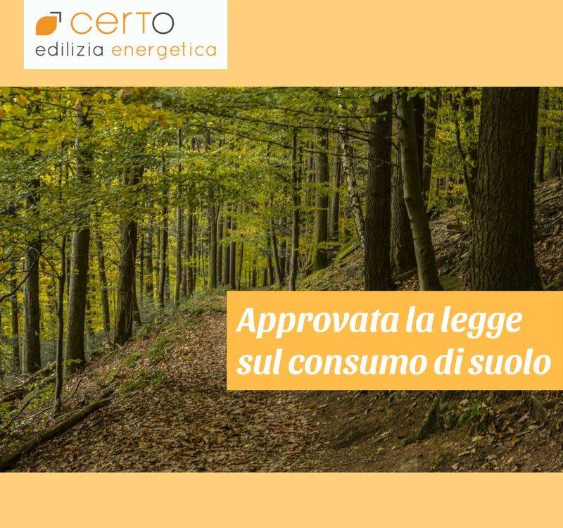 approvata legge sul consumo di suolo