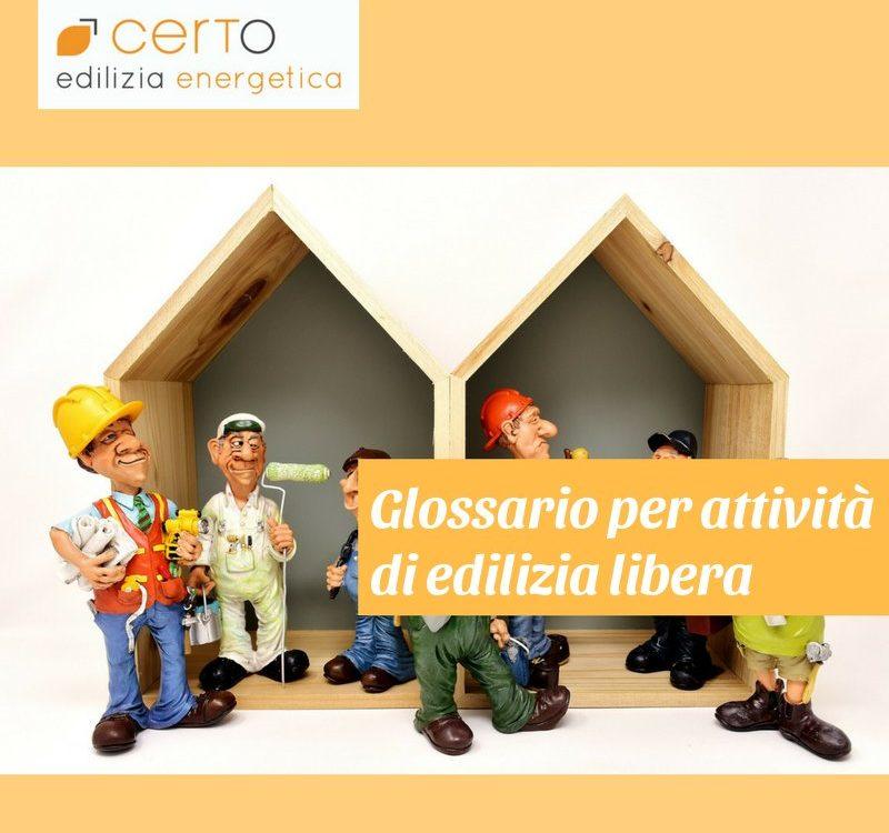 glossario attività edilizia libera
