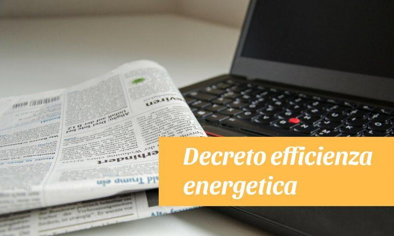decreto efficienza energetica