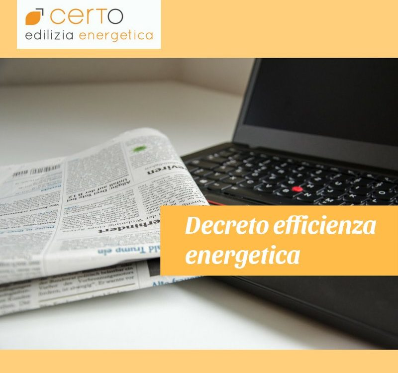 decreto efficienza energetica