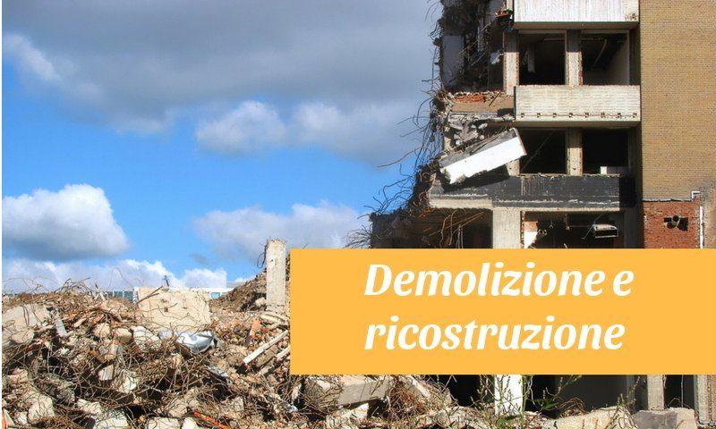sismabonus demolizione con ricostruzione