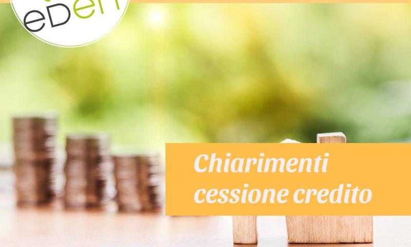 chiarimenti cessione del credito