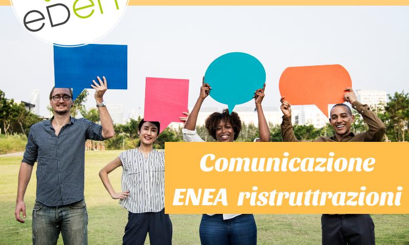 comunicazione enea ristrutturazioni