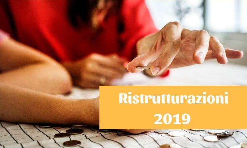 ristrutturazioni 2019