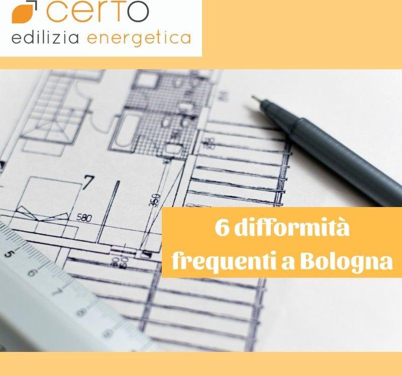 6 difformità urbanistiche e catastali a Bologna