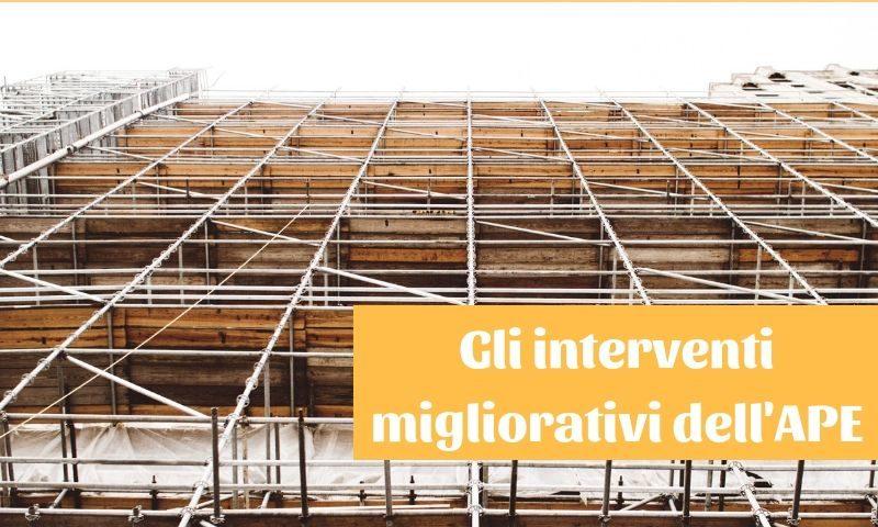 interventi migliorativi certificazione energetica