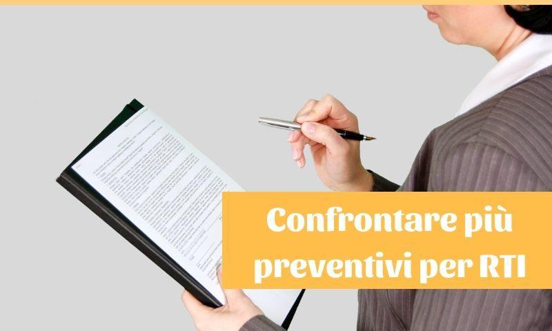 come confrontare più preventivi per la relazione tecnica di compravendita
