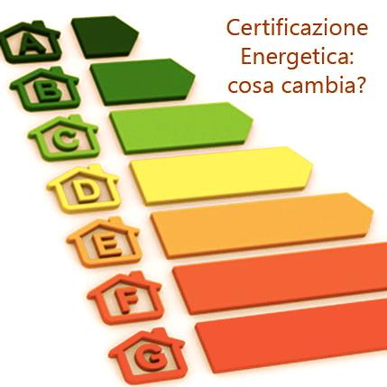certificazione energetica cosa cambia