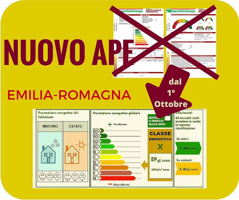 Nuovo APE in Emilia-Romagna dal 1 Ottobre